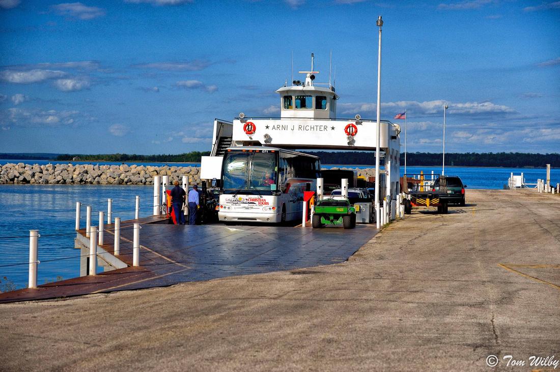 Ferry from Door County peninsula to Washington Island.
