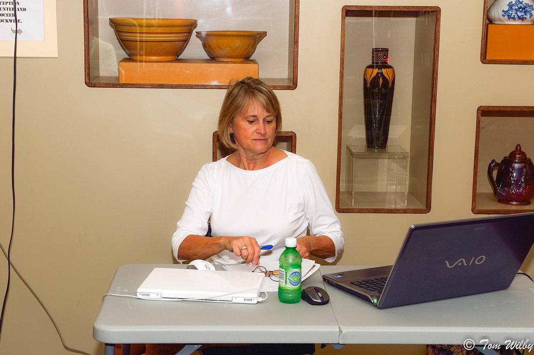 Preparing for my presentation at the Museum of Ceramics.