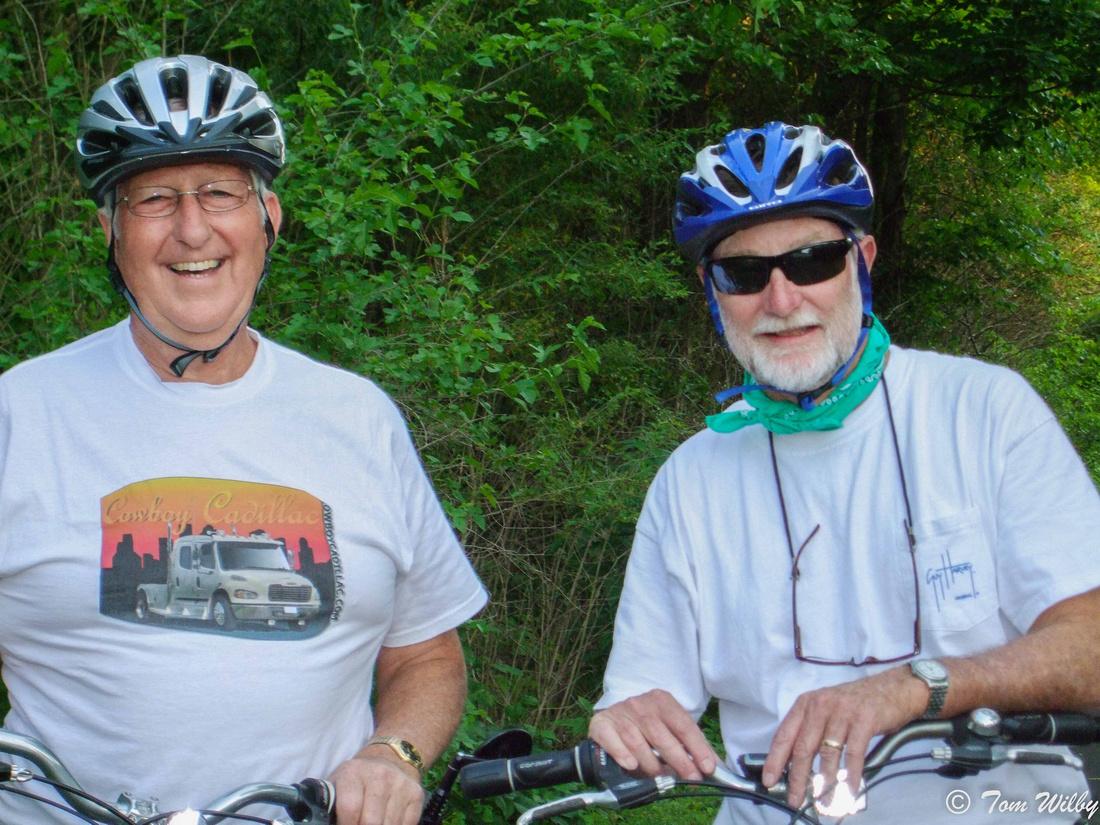 Jerry and Tom on the Simon Kenton Trail near Yellow Springs.