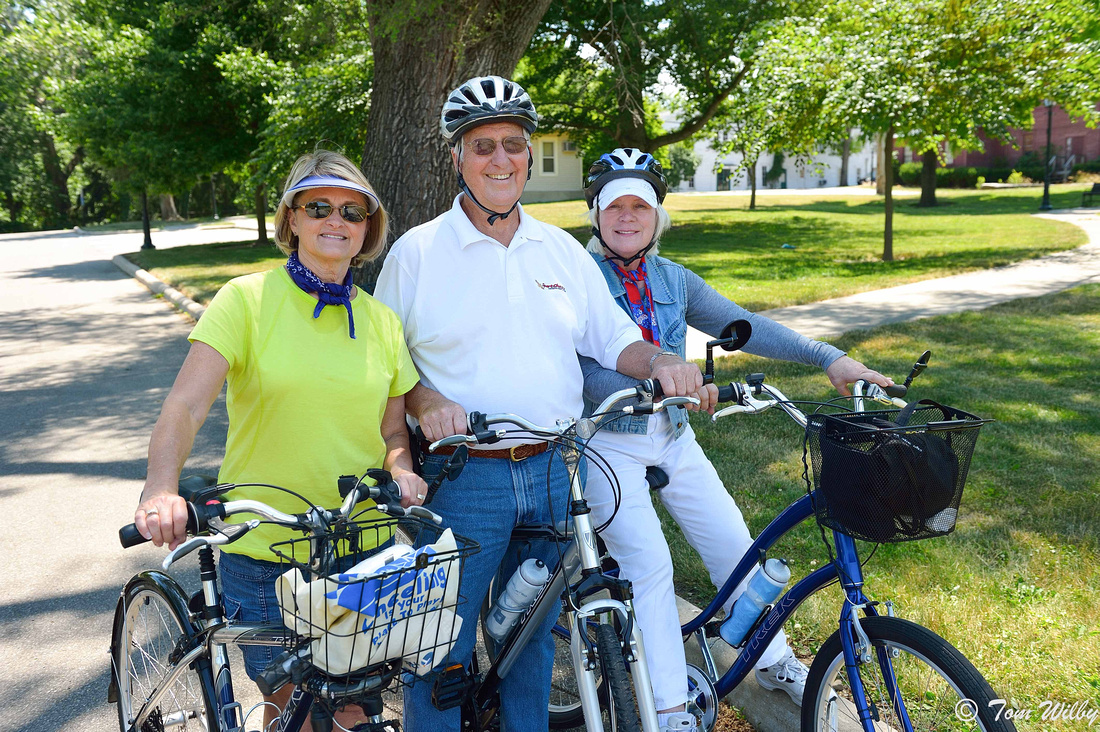Jeanie, Jerry and Ruth on the Great Miami River Trail