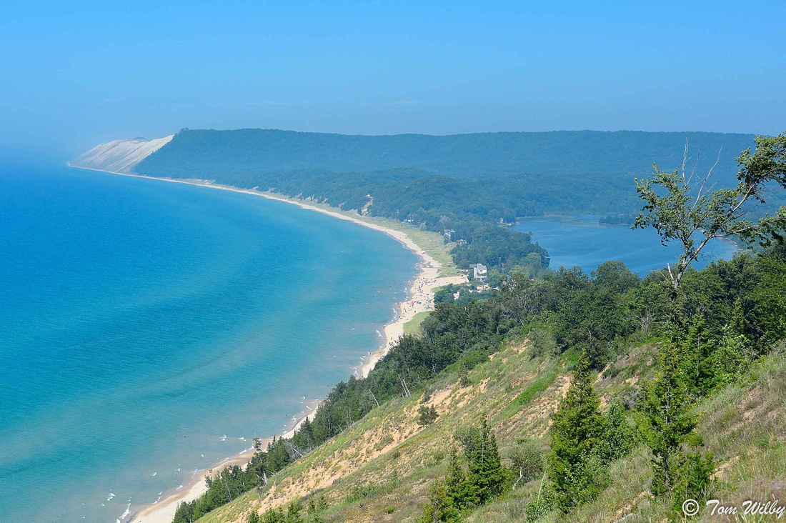 View of Sleeping Bear Dunes from Empire Trail.